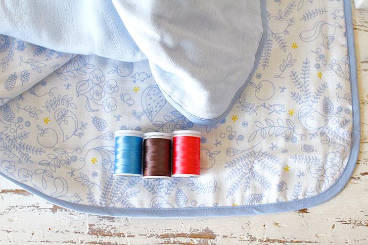 お名前刺繍対応 ブルー