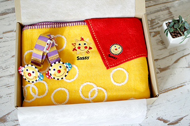Sassy(サッシー)のブランケット&ブランケットクリップ&ハンドタオルのセット